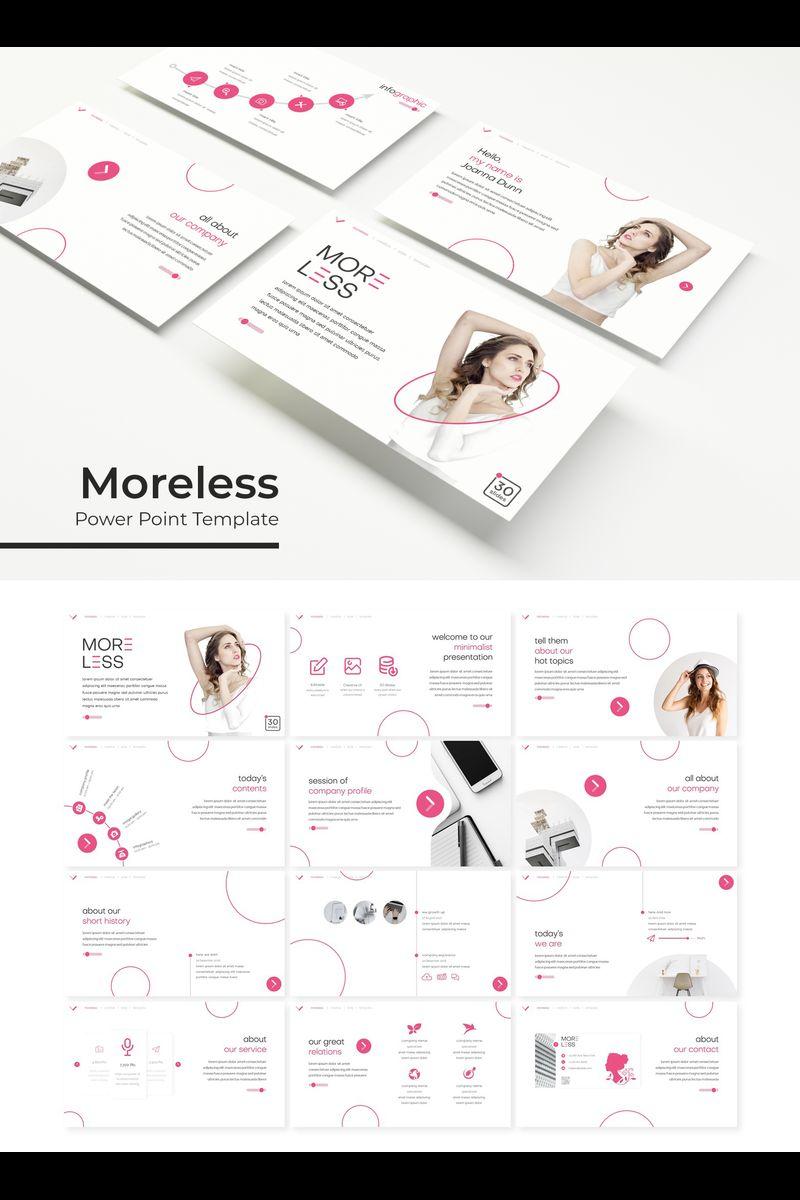 """Moreless"" PowerPoint Template №89328"