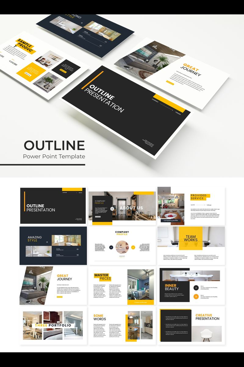 Outline Template PowerPoint №89327