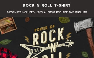 Power of Rock n Roll - T-shirt Design