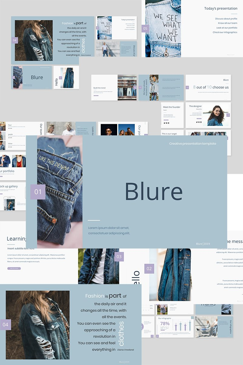 Prémium Blure Google Slides 89380