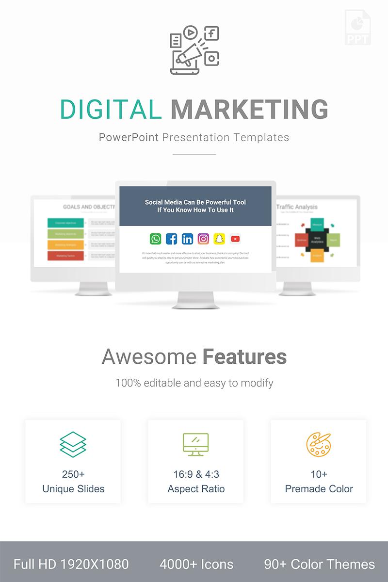 Prémium Digital Marketing Presentation PowerPoint sablon 89362