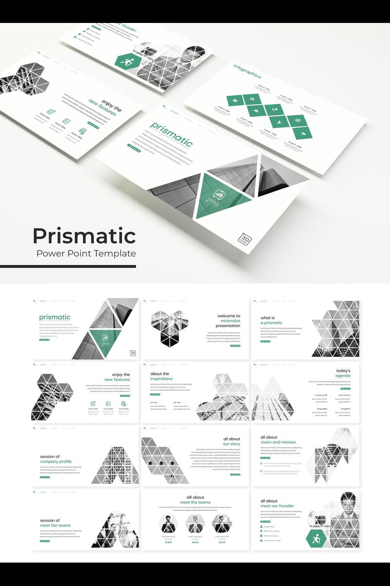 Prismatic Template PowerPoint №89325