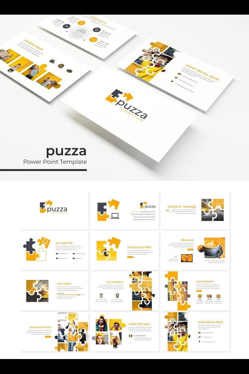 """Puzza"" PowerPoint Template №89324"