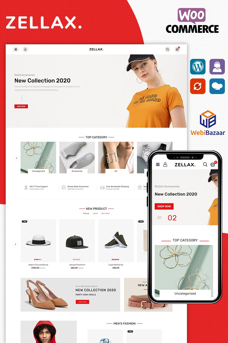 Responsive Zellax Fashion Woocommerce #89359