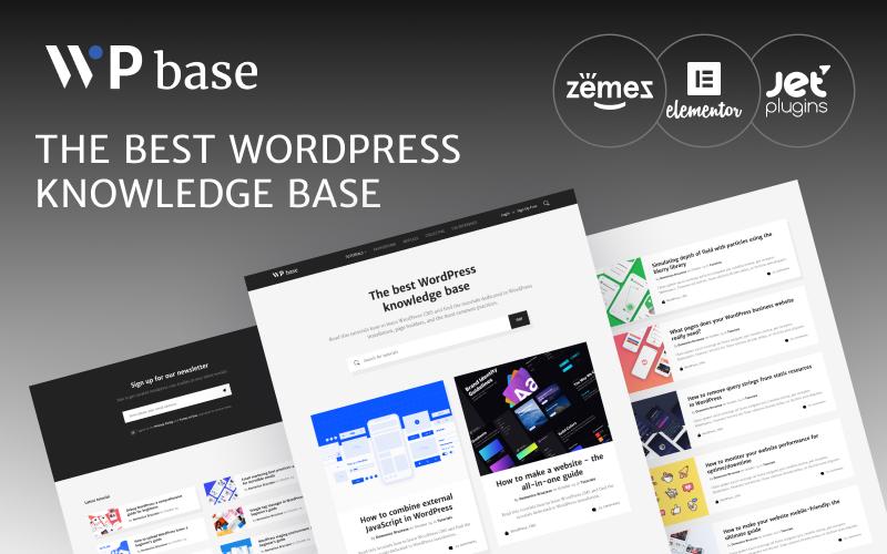 Responsivt WPbase - WordPress Tutorial Theme WordPress-tema #89336