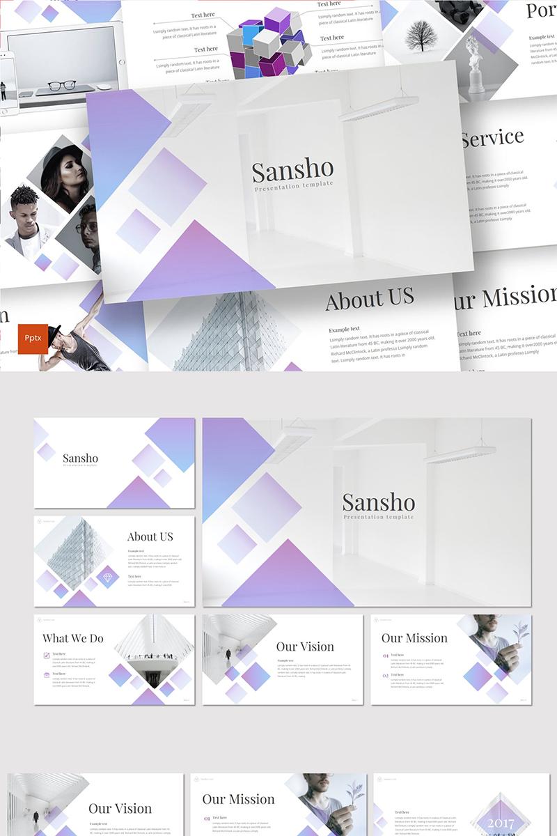 """""""Sansho"""" PowerPoint Template №89331"""