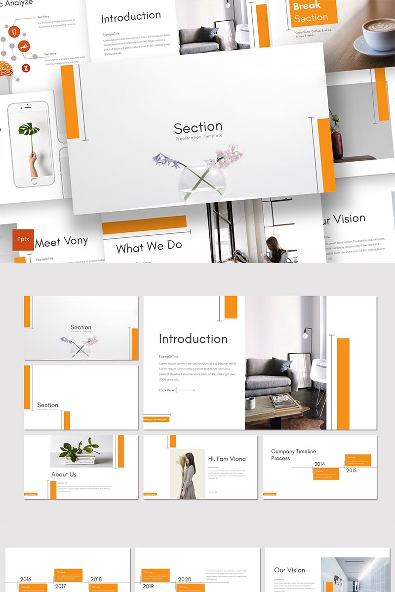 """Section"" PowerPoint Template №89323"