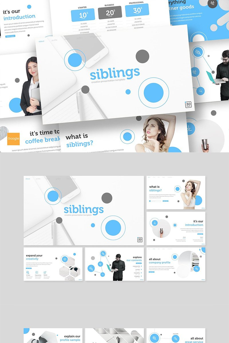 """Siblings"" Google Slides №89387"