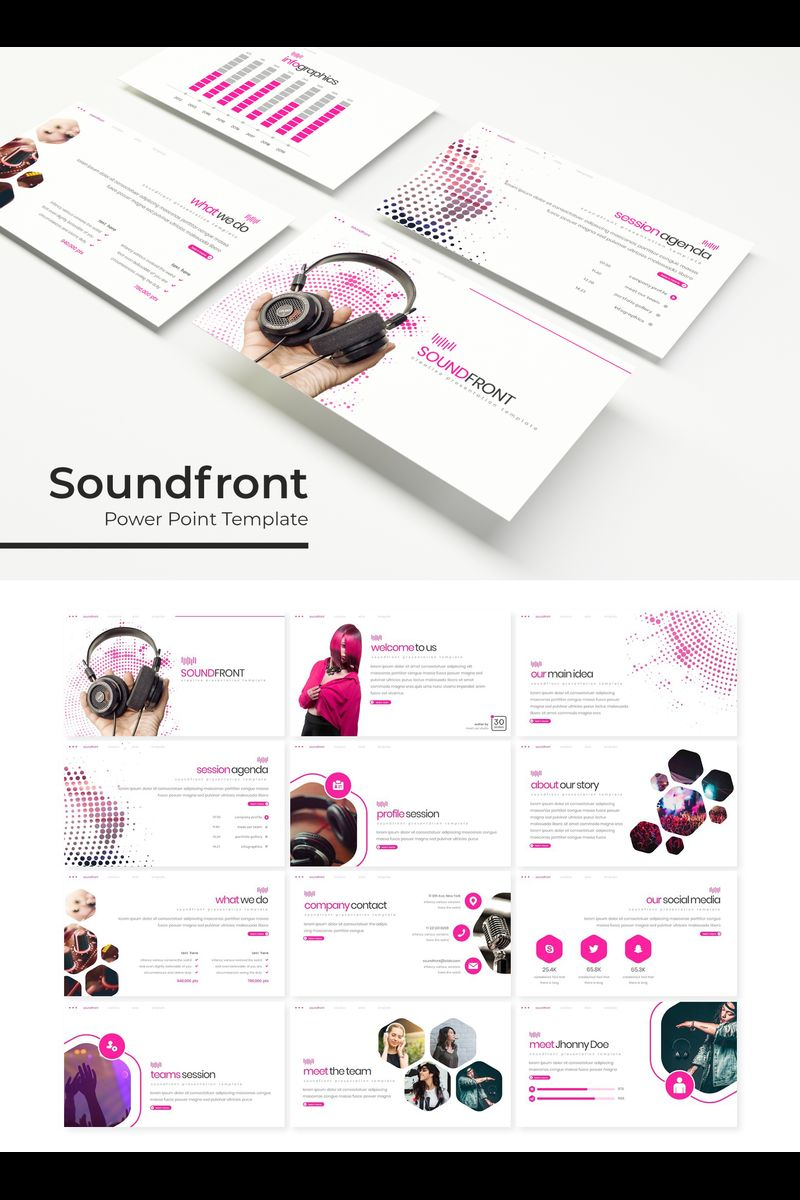 """Soundfront"" PowerPoint Template №89318"