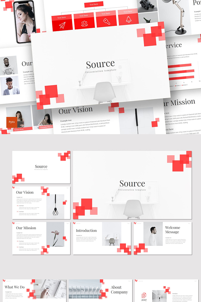 """Source"" PowerPoint Template №89319"