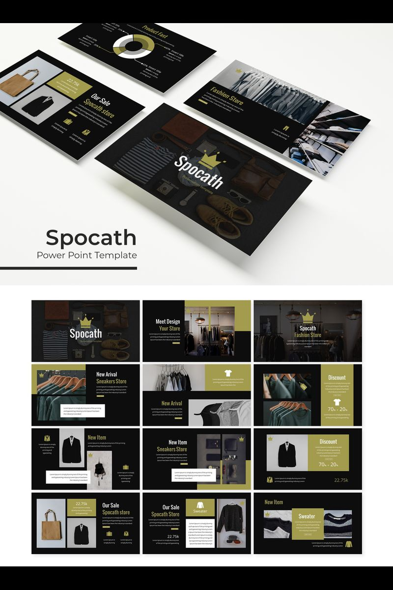"""Spocath"" PowerPoint Template №89317"