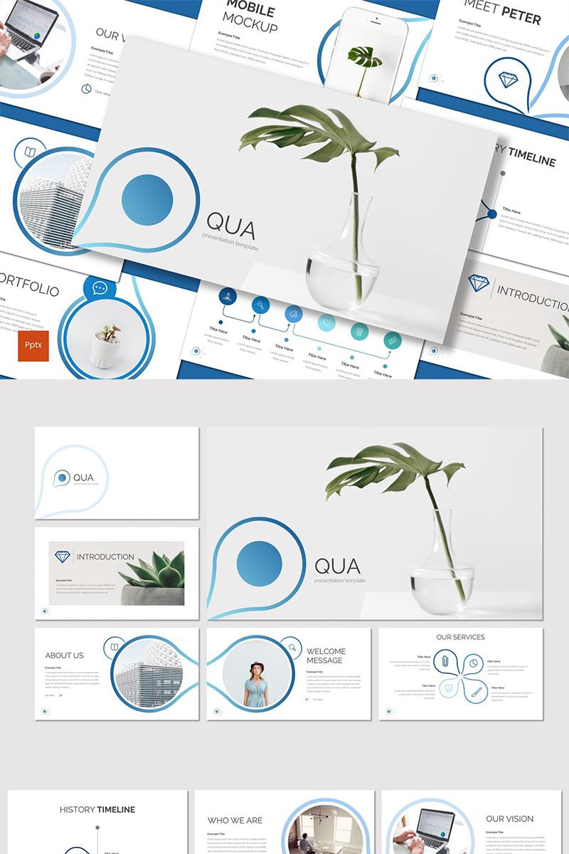 Szablon PowerPoint Qua #89378