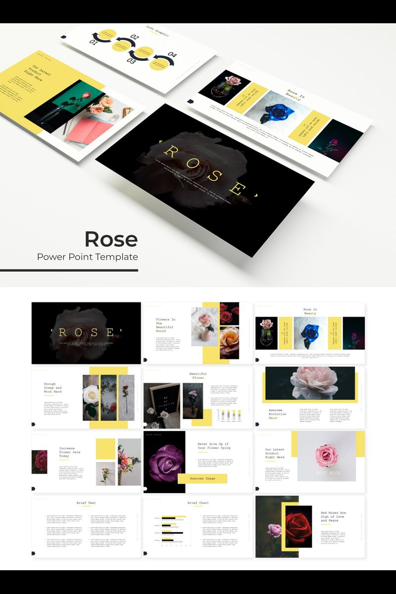 Szablon PowerPoint Rose #89322