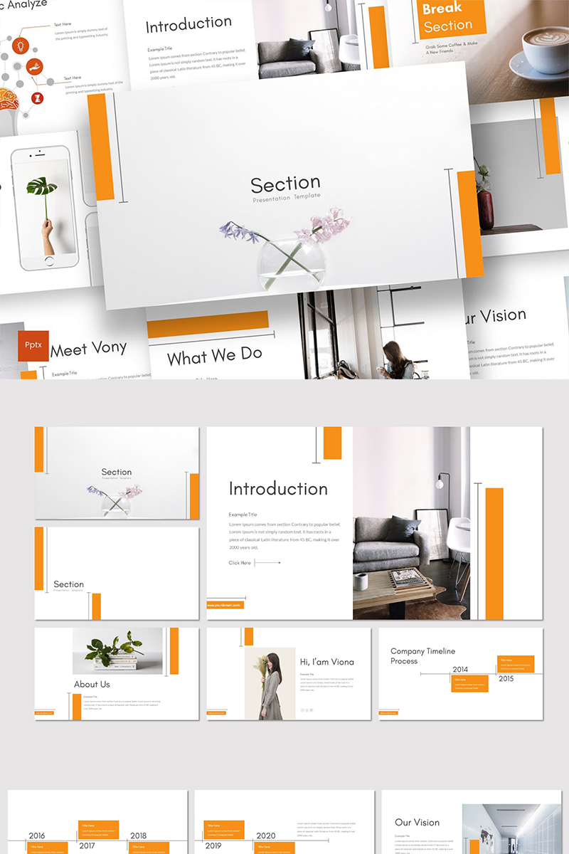 Szablon PowerPoint Section #89323