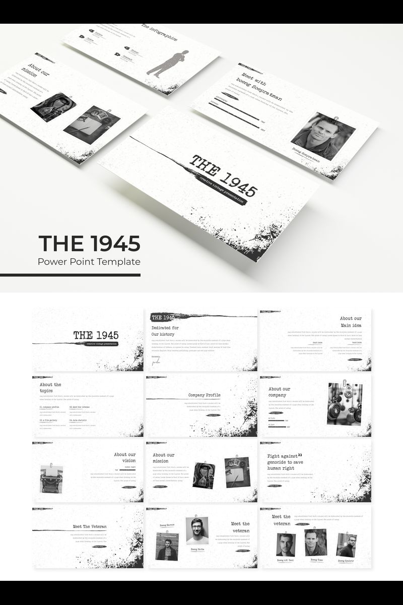 Szablon PowerPoint The 1945 #89315