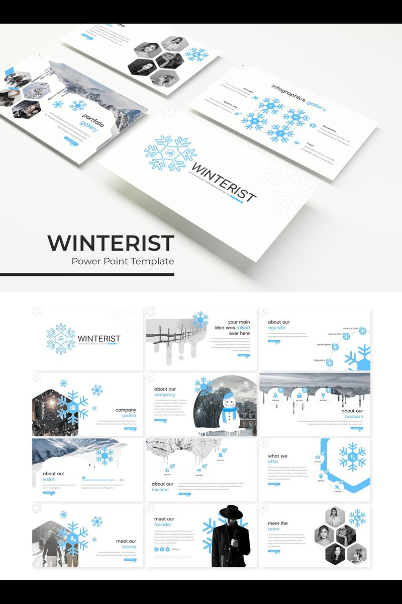 Szablon PowerPoint Winterist #89313