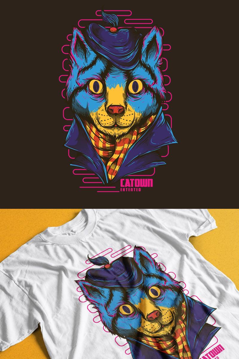 T-shirt Catown #89305