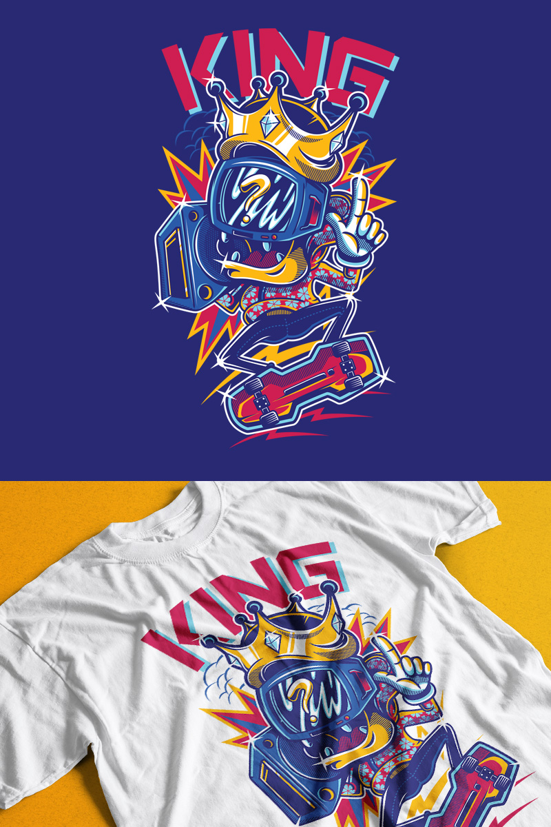 "T-shirt ""King"" #89347"