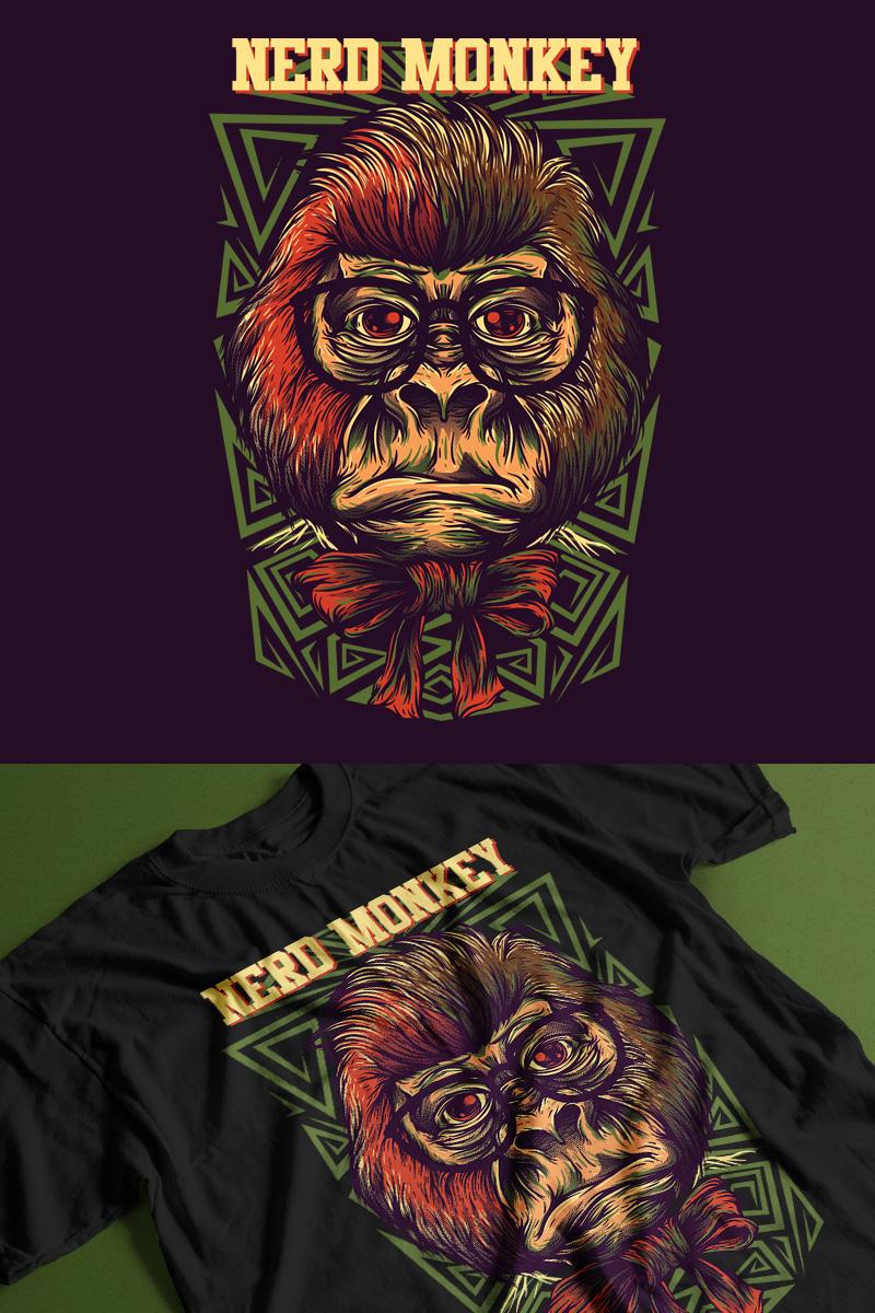 "T-shirt ""Nerd Monkey"" #89302"