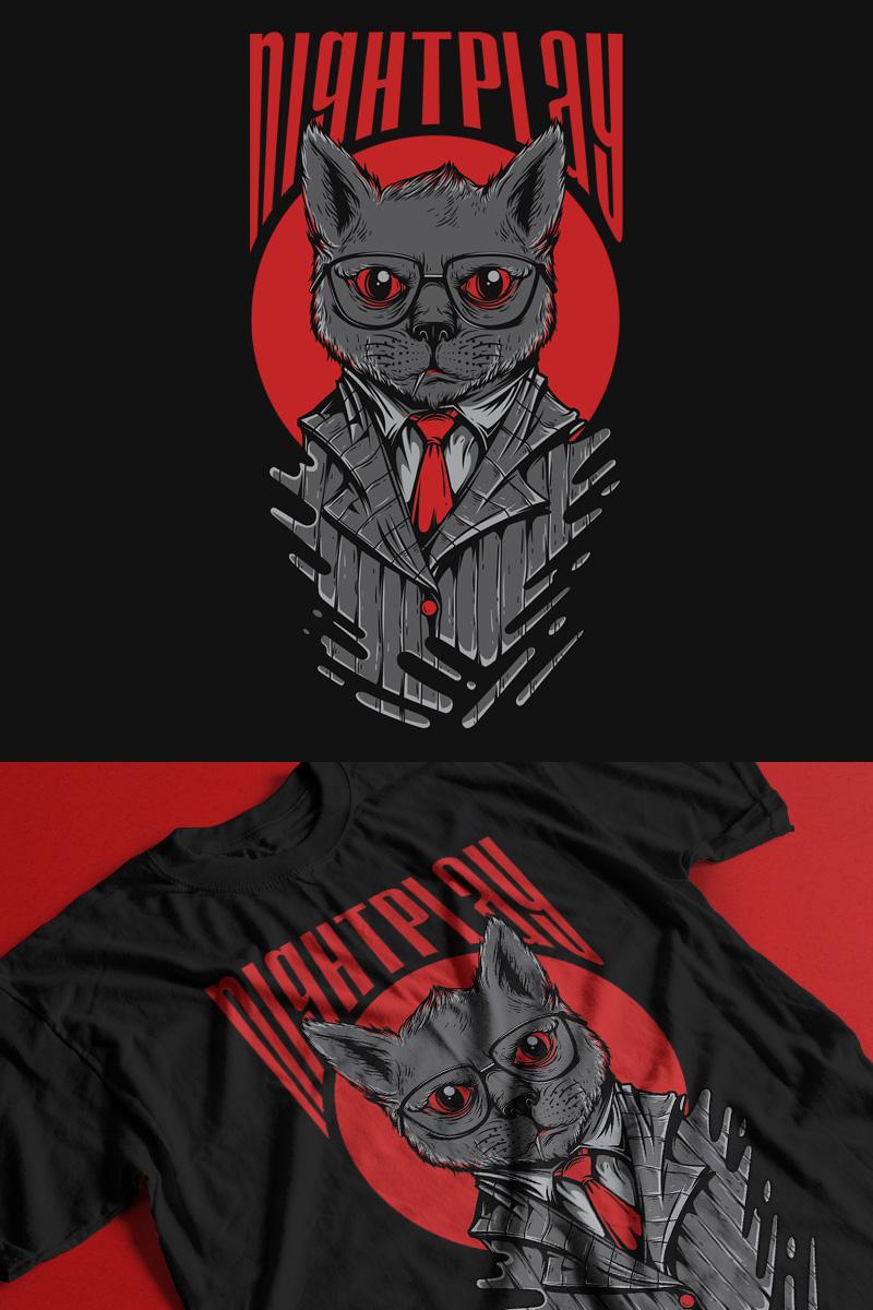 "T-shirt ""Nightplay"" #89348"
