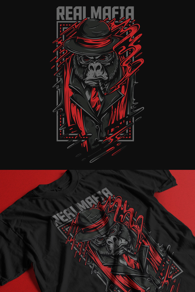 "T-shirt ""Real Mafia"" #89349"
