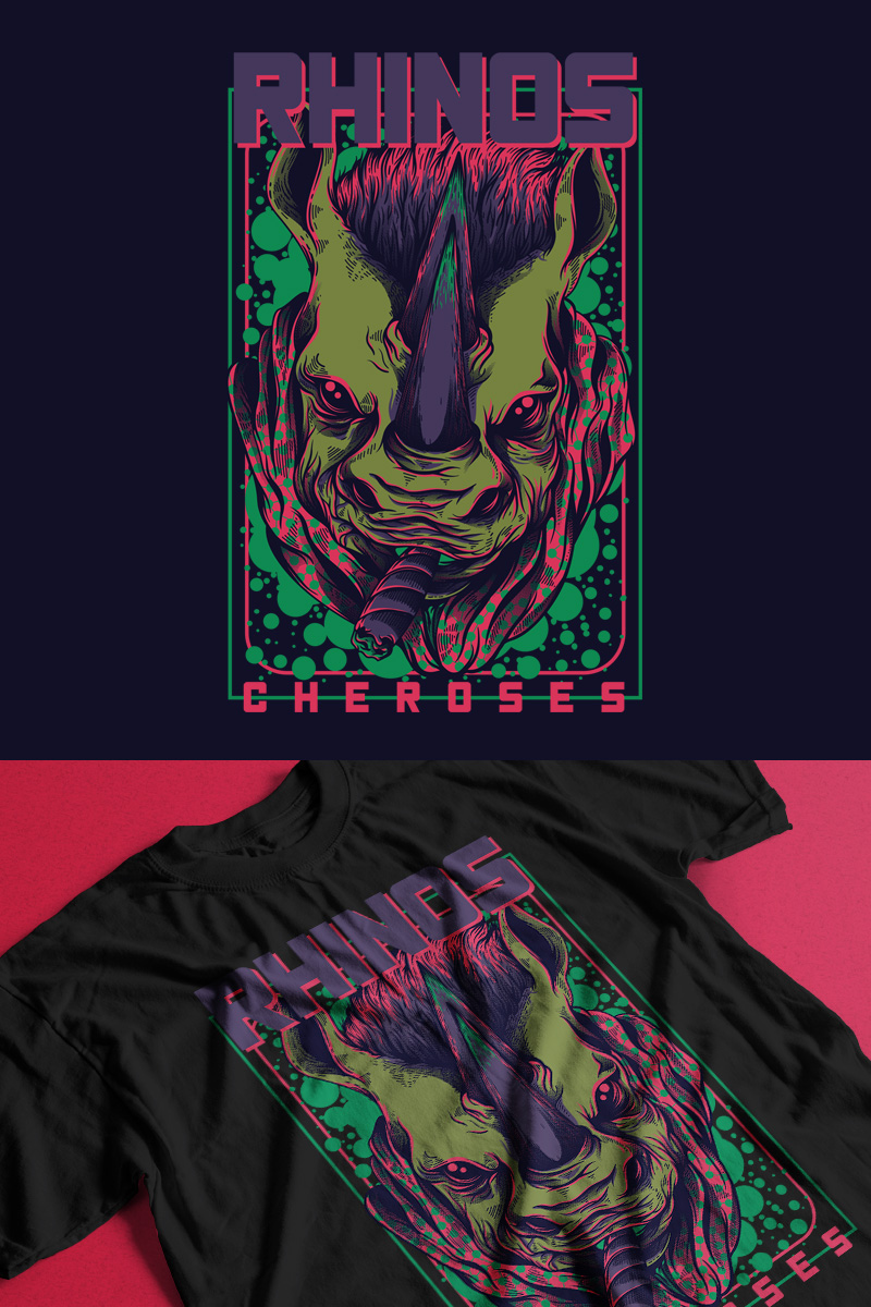 "T-shirt ""Rhinos Cheroses"" #89306"