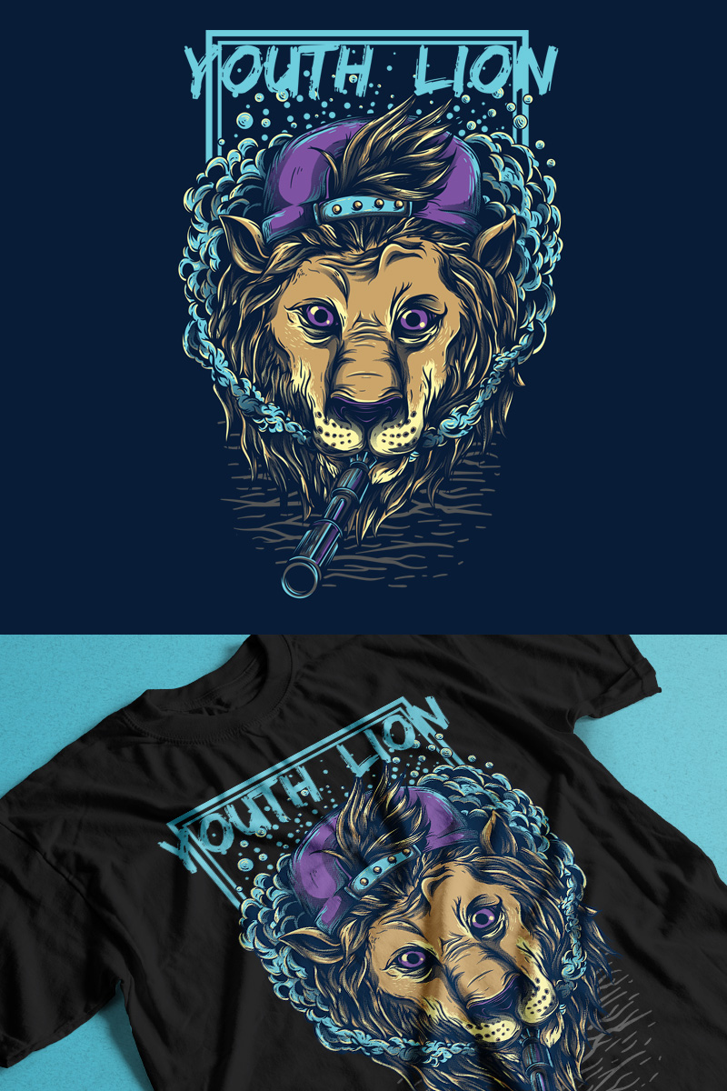 T-shirt Youth Lion #89304