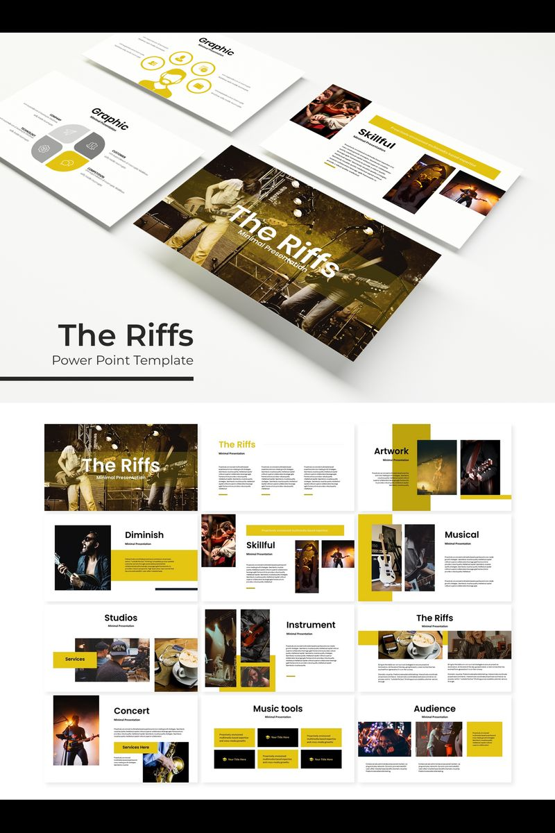 """The Riffs"" PowerPoint Template №89314"