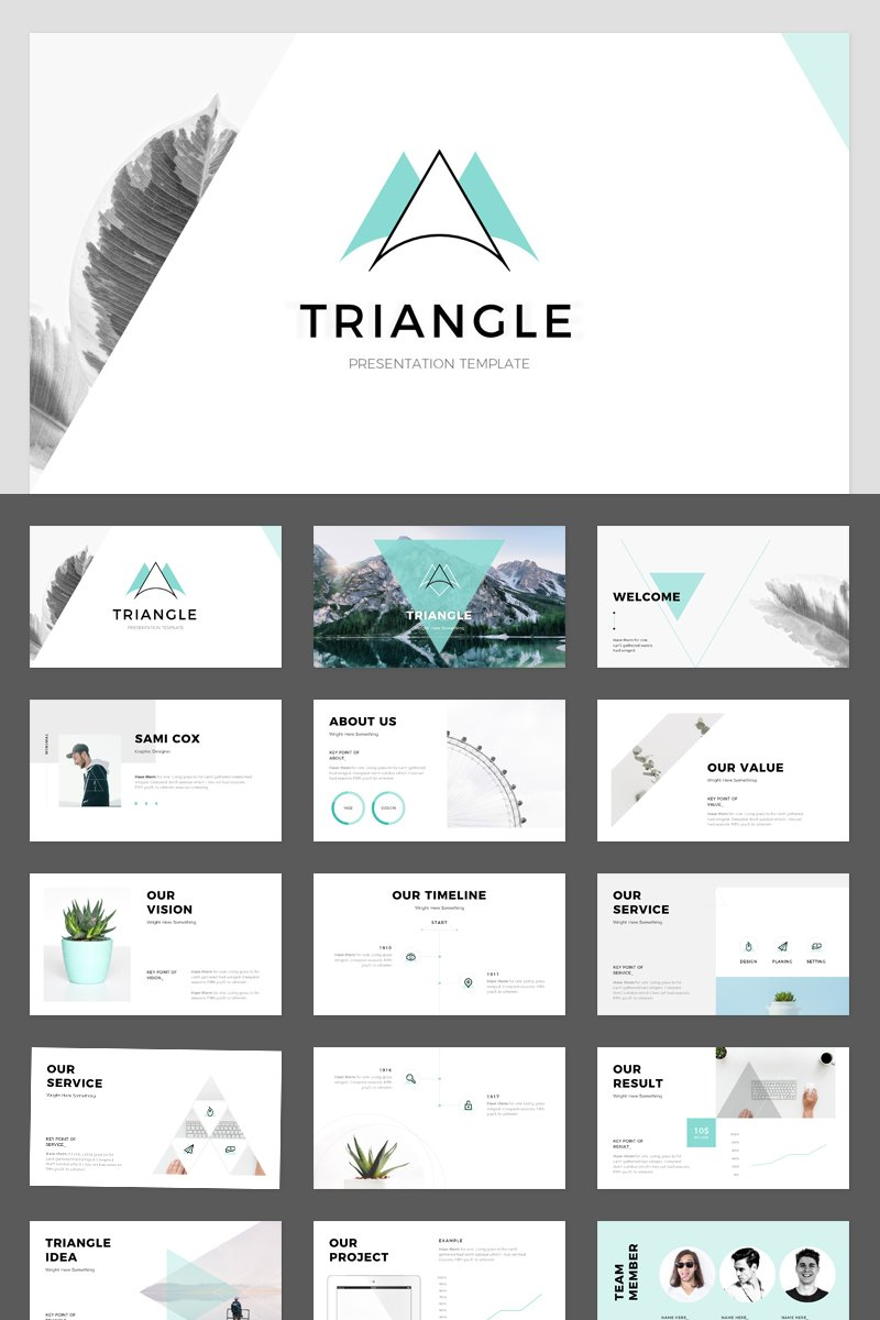 Triangle PowerPoint sablon 89361
