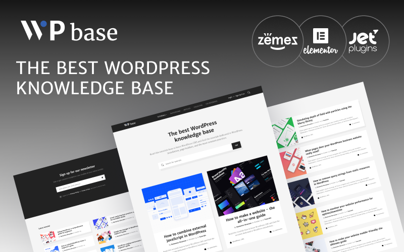 """WPbase - WordPress Tutorial Theme"" Responsive WordPress thema №89336"