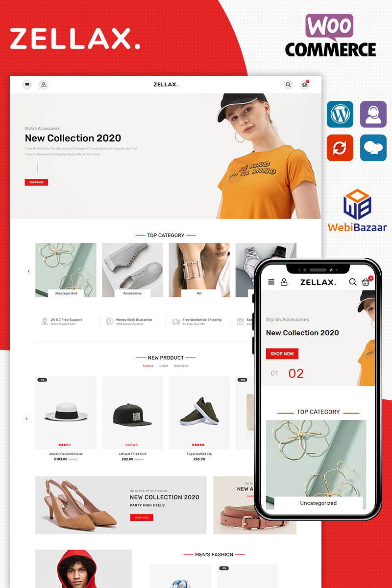 """Zellax Fashion"" Responsive WooCommerce Thema №89359"