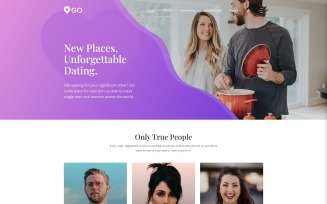 GO - Dating Multipage Elegant Joomla Template