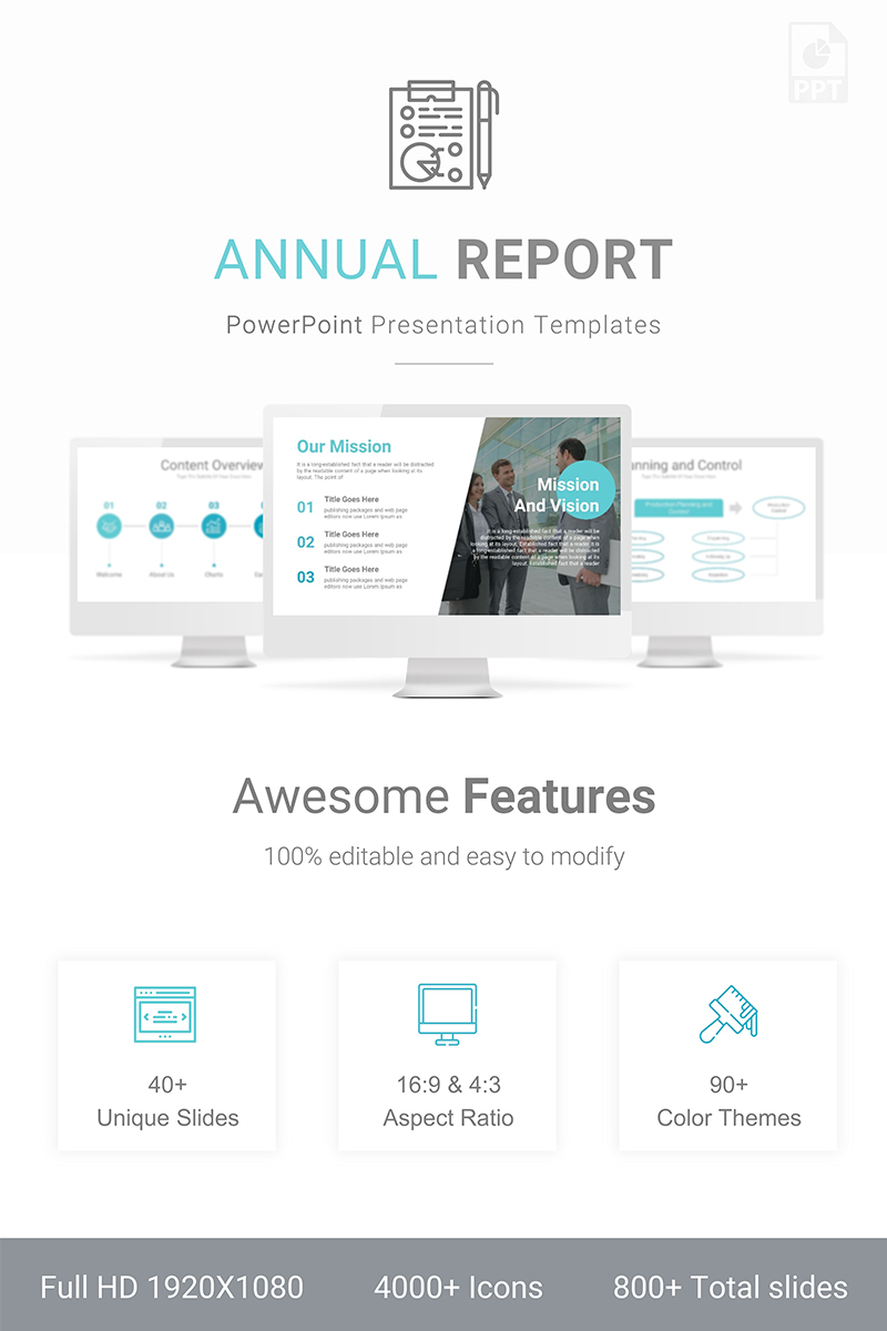 Annual Report Presentation Template PowerPoint №89441