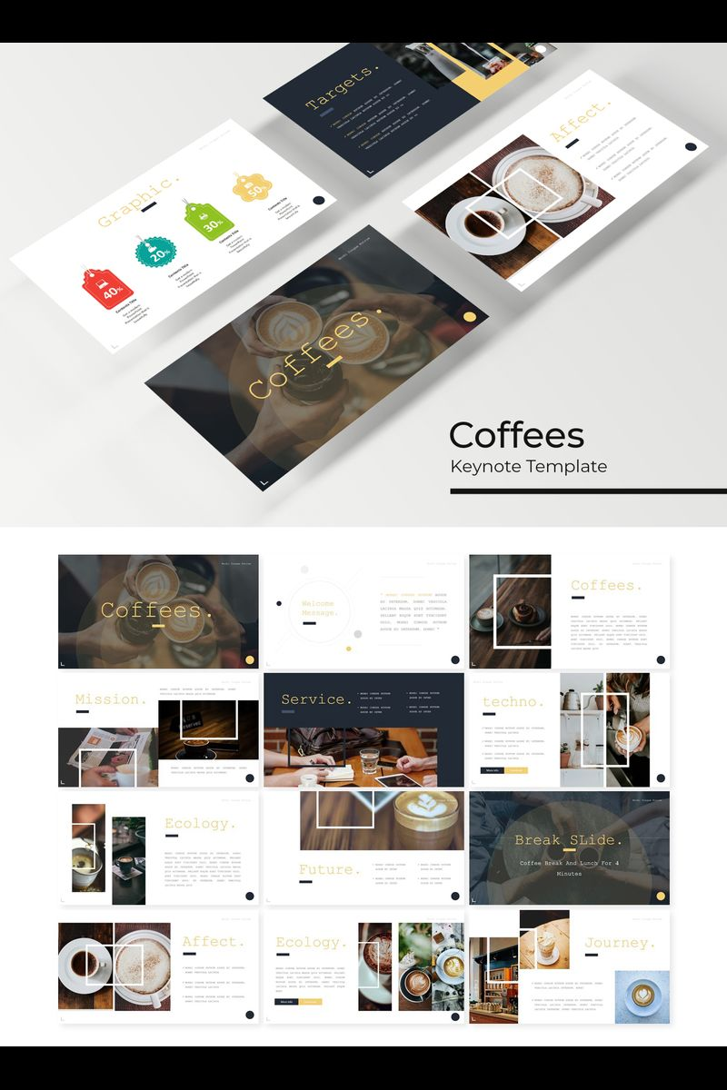 """Coffees"" Keynote Template №89420"