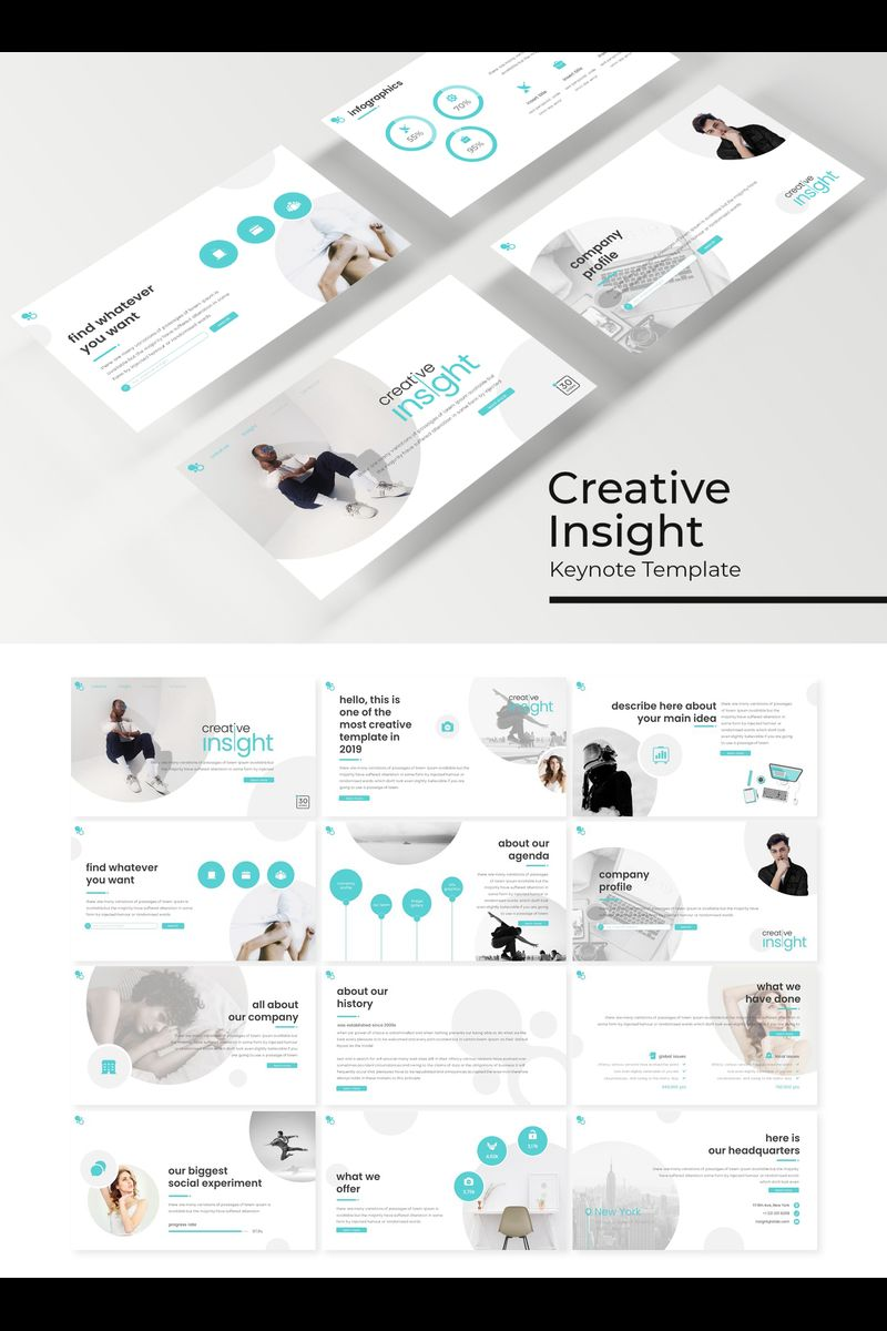 """Creative Insight"" Keynote Template №89419"