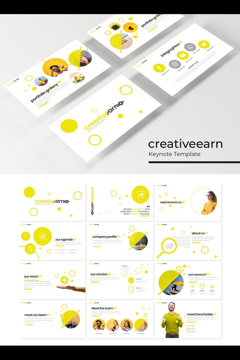 """Creativeearn"" Keynote Template №89418"