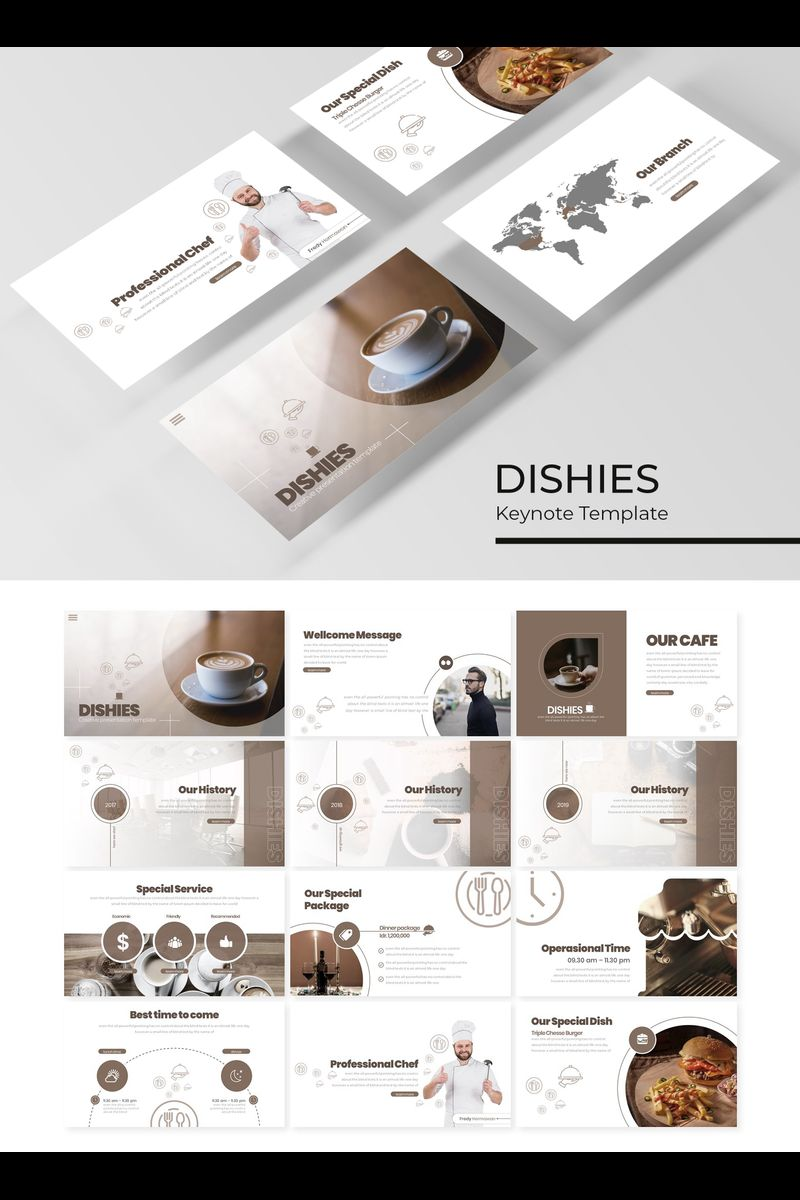 """Dishies"" Keynote Template №89417"