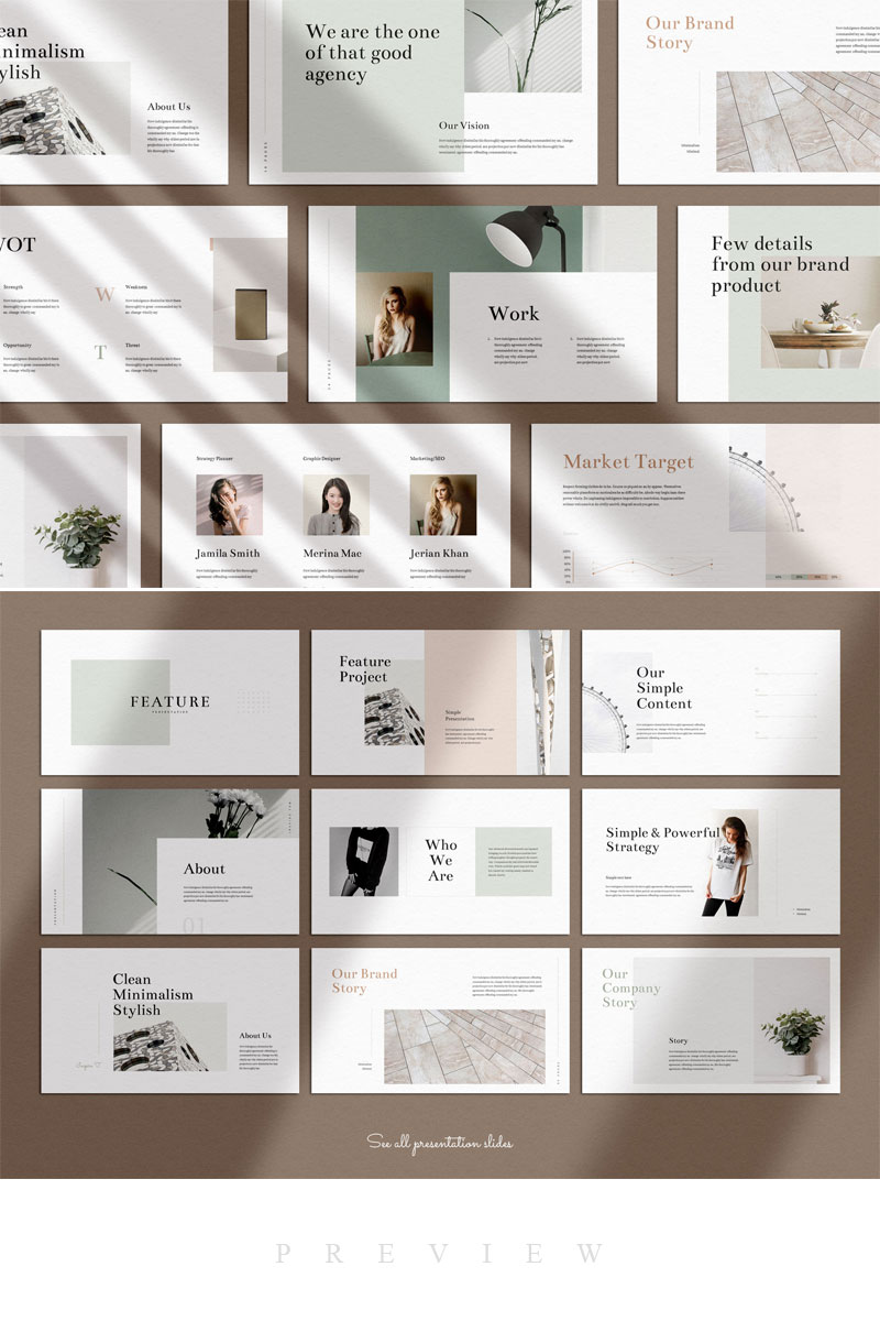 Feature - Minimal Keynote Presentation PowerPoint Template