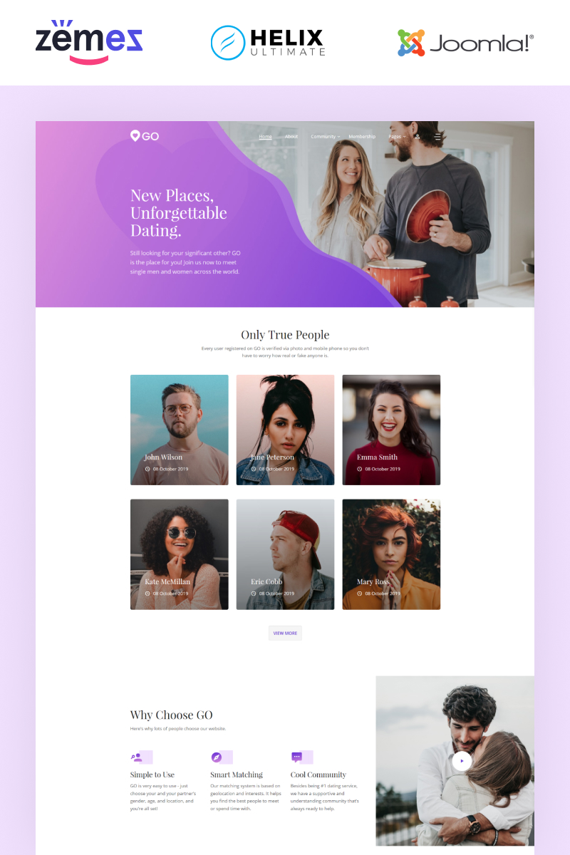 GO - Dating Multipage Elegant №89422