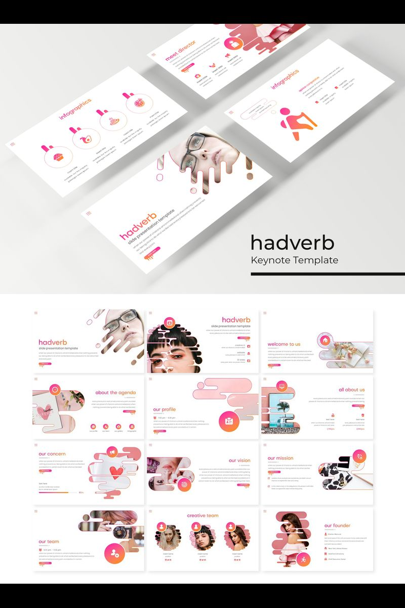 """Hadverb"" Keynote Template №89414"