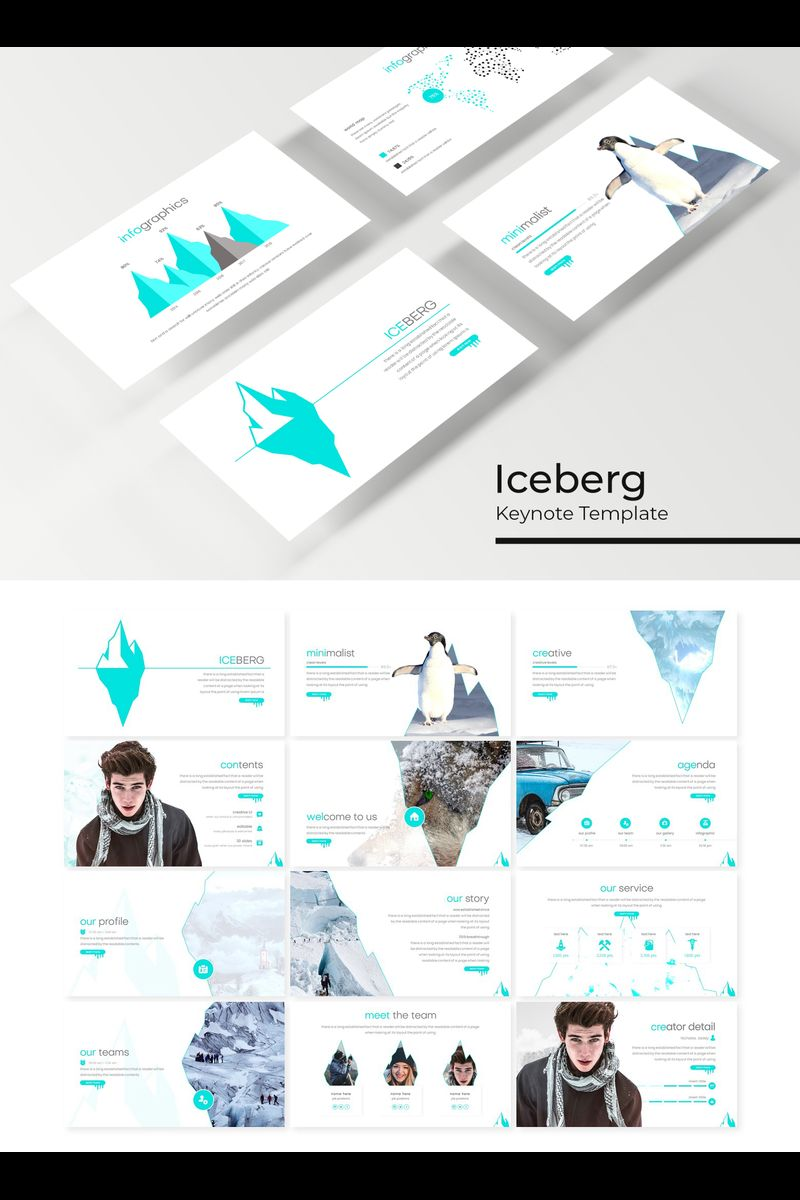"""Iceberg"" modèle Keynote  #89411 - screenshot"