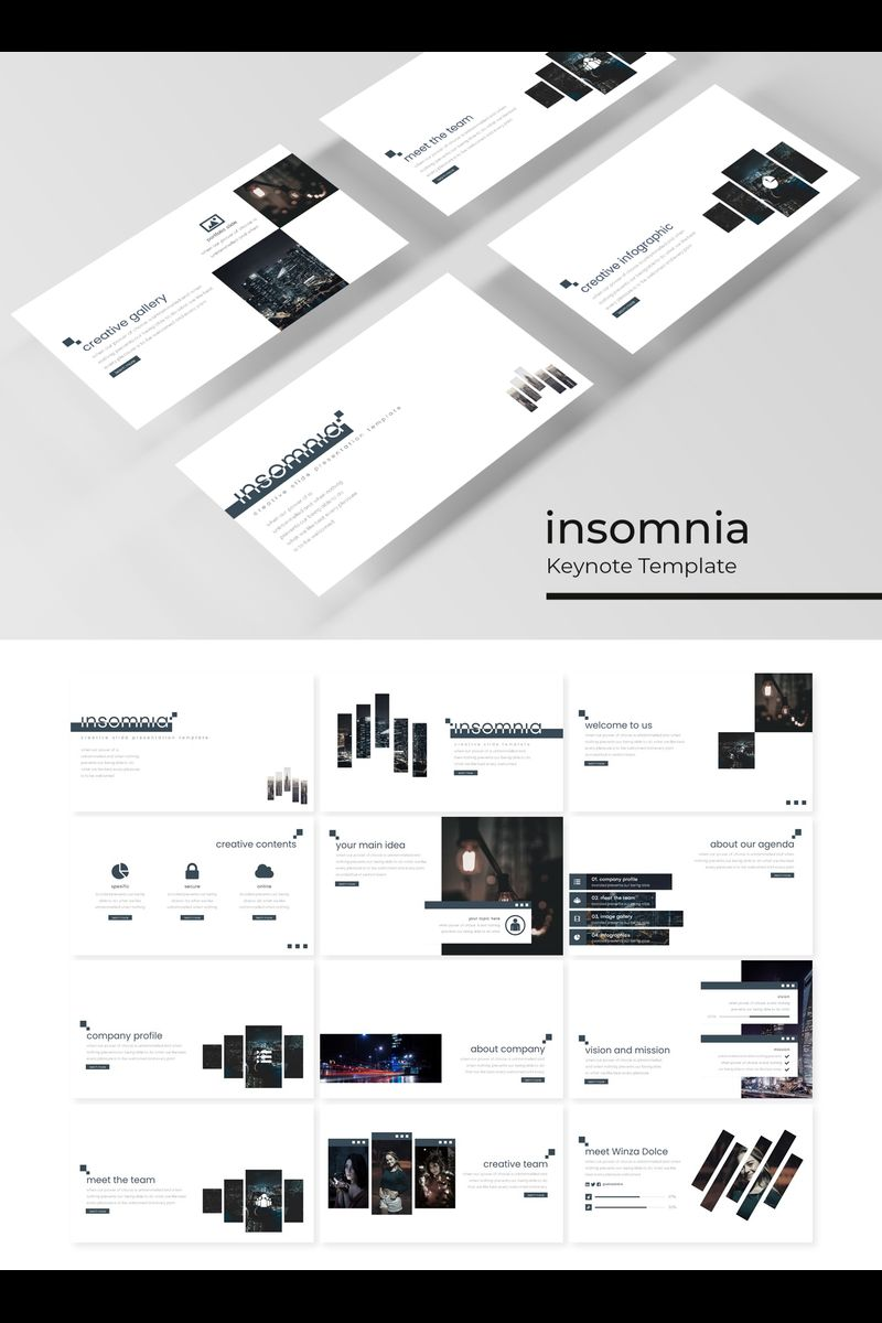 Insomnia Template para Keynote №89410