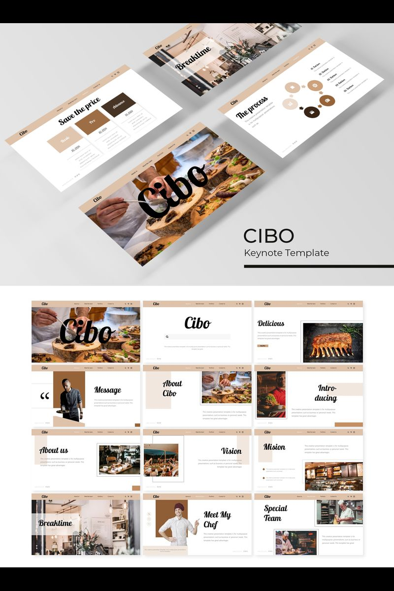 """Keynote Vorlage namens """"Cibo"""" #89421"""