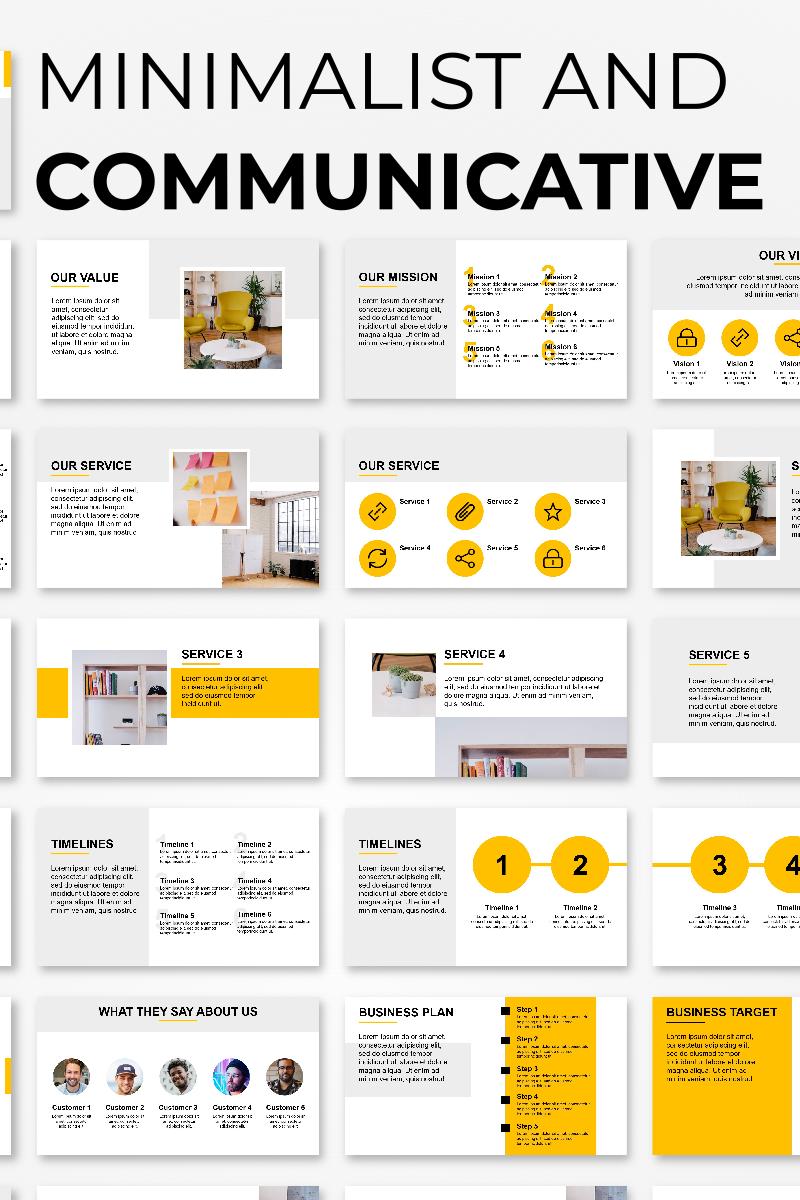 Minimalist and Communicative Presentation PowerPoint Template - screenshot