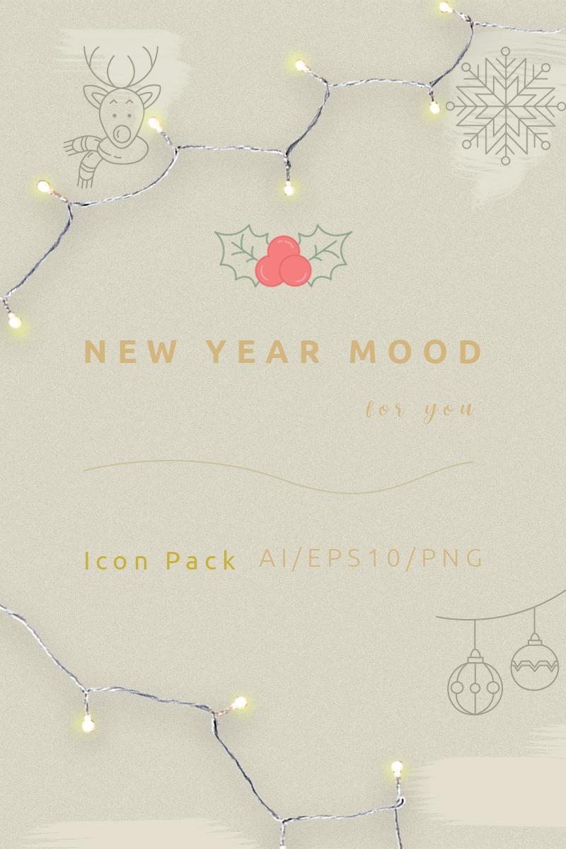 """New Year mood"" 图标集模板 #89488"