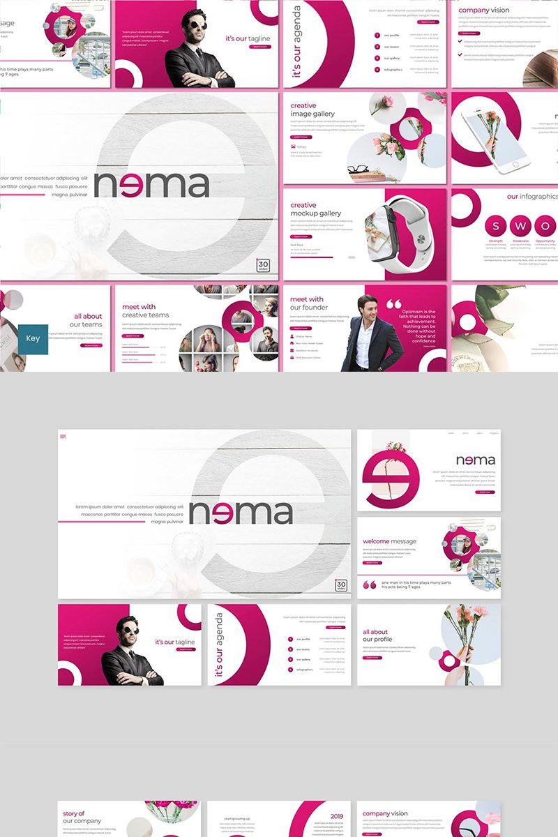 "Plantilla Keynote ""Nema"" #89482"
