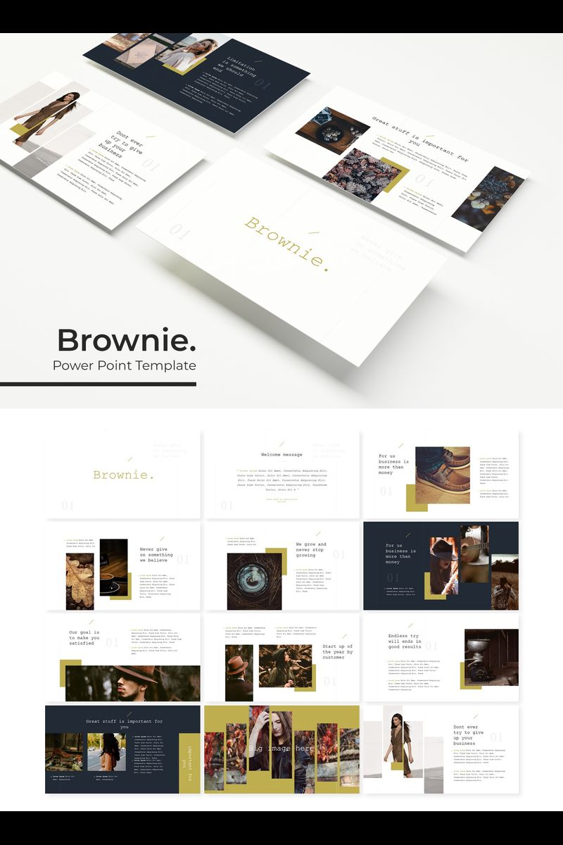"Plantilla PowerPoint ""Brownie"" #89436"