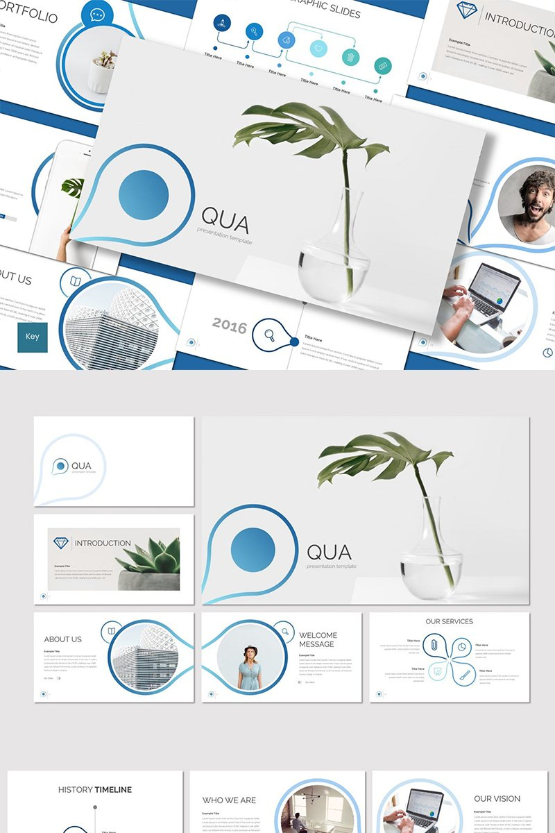 """Qua"" Keynote Template №89416"