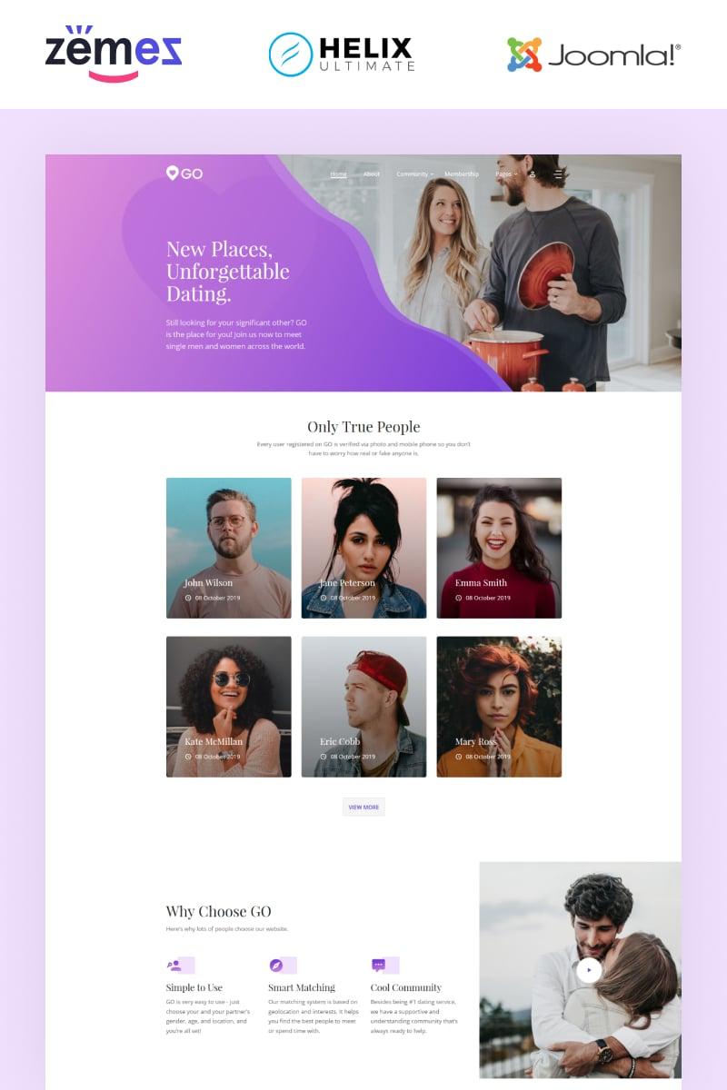 Responsywny szablon Joomla GO - Dating Multipage Elegant #89422