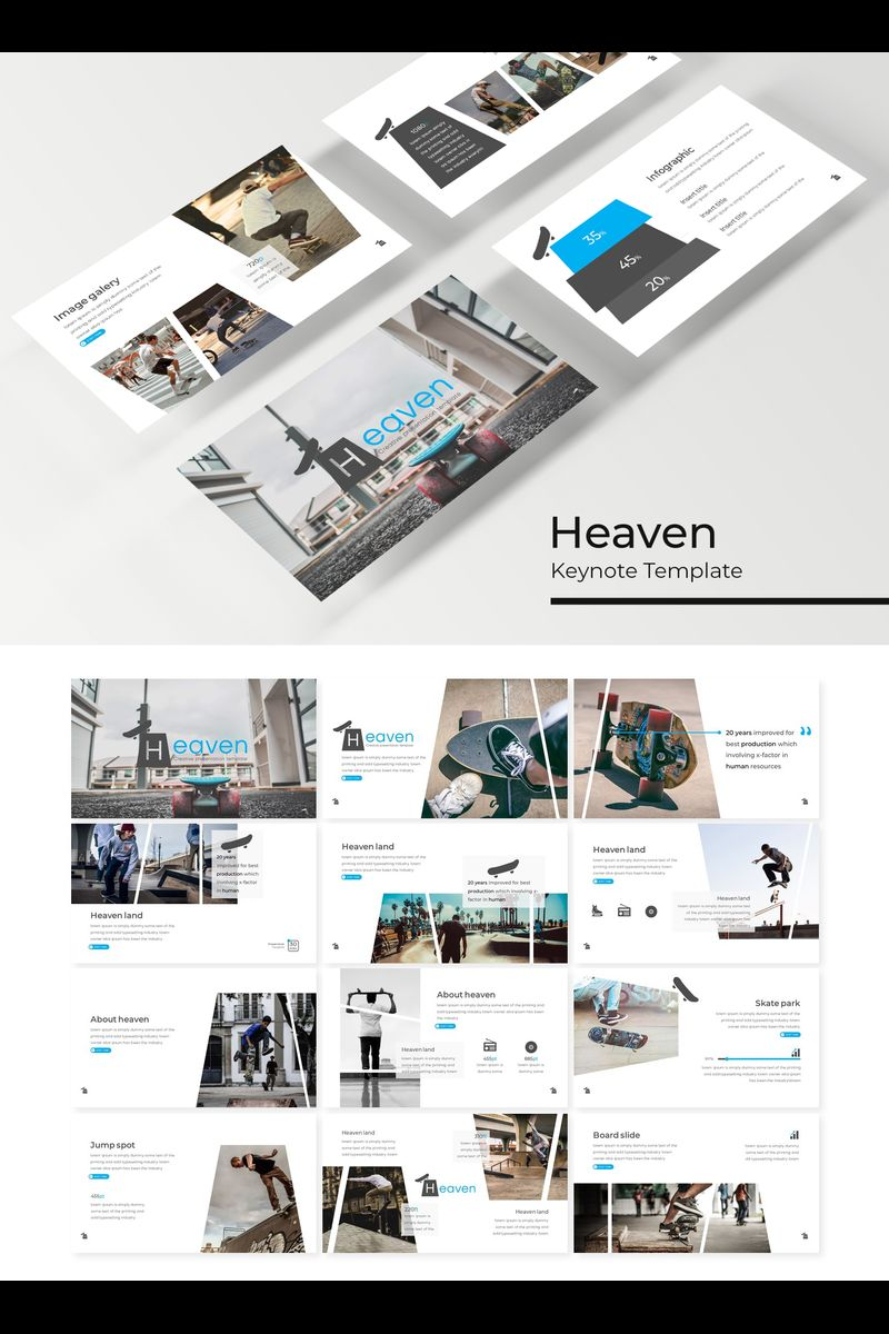 "Šablona pro Keynote ""Heaven"" #89413"